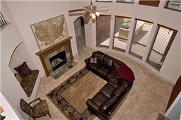 Aerial View to downstairs living/family room