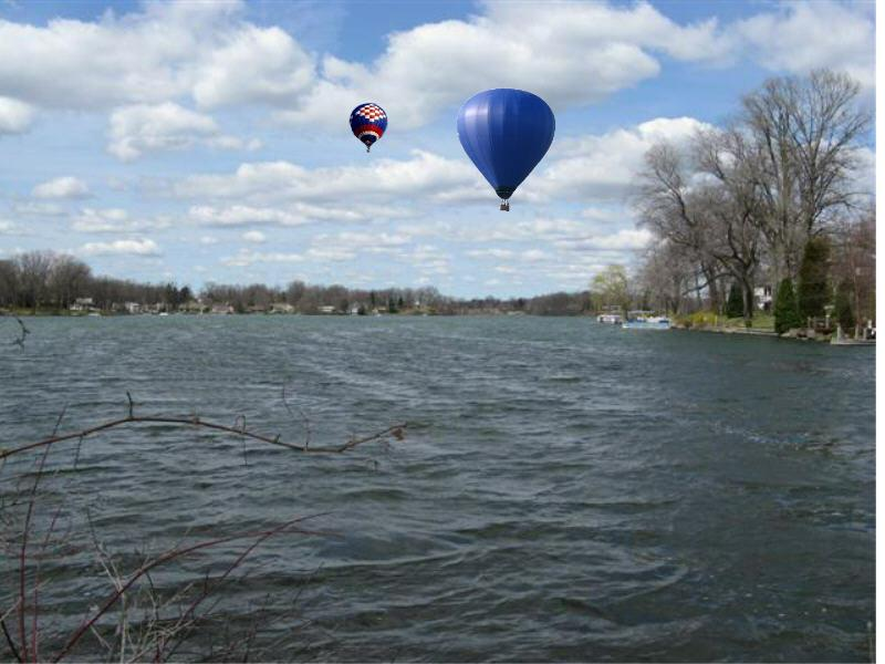 Meyers Lake Hot Air Balloons in Springtime