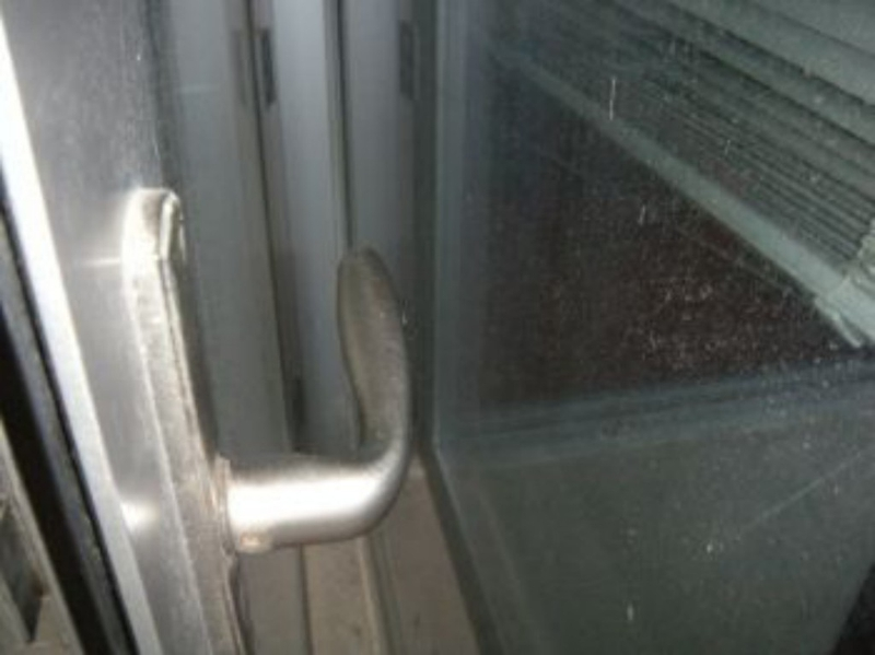 Balcony door handle
