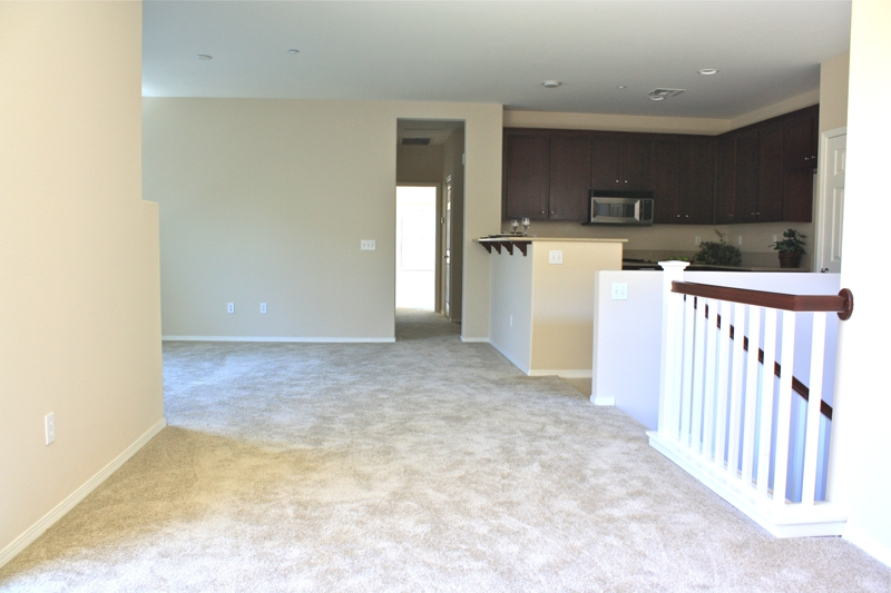 Vacant Condo Dining & Living Room