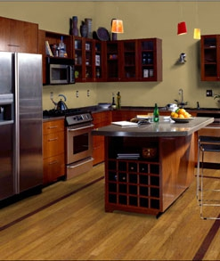 hardwood flooring kitchen with border westchester NY