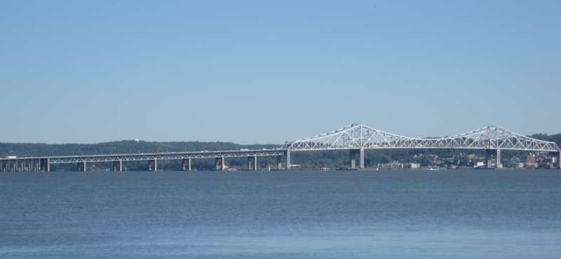Tappan Zee bridge view from Piermont, New York