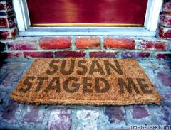 Susan staged me welcome mat