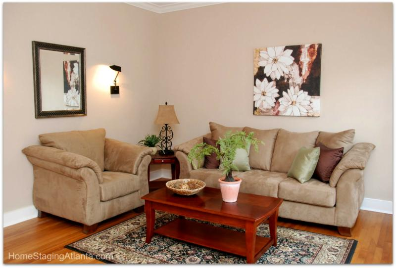 Atlanta Home Staging After Picture Living Room Part 41