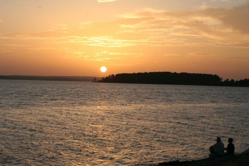 Sunset over Toledo Bend