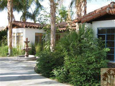 Marjorie Main home--yard when green