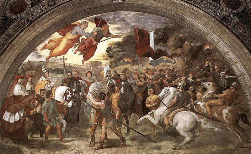 Attila the Hun Pope Leo Raphael blog image
