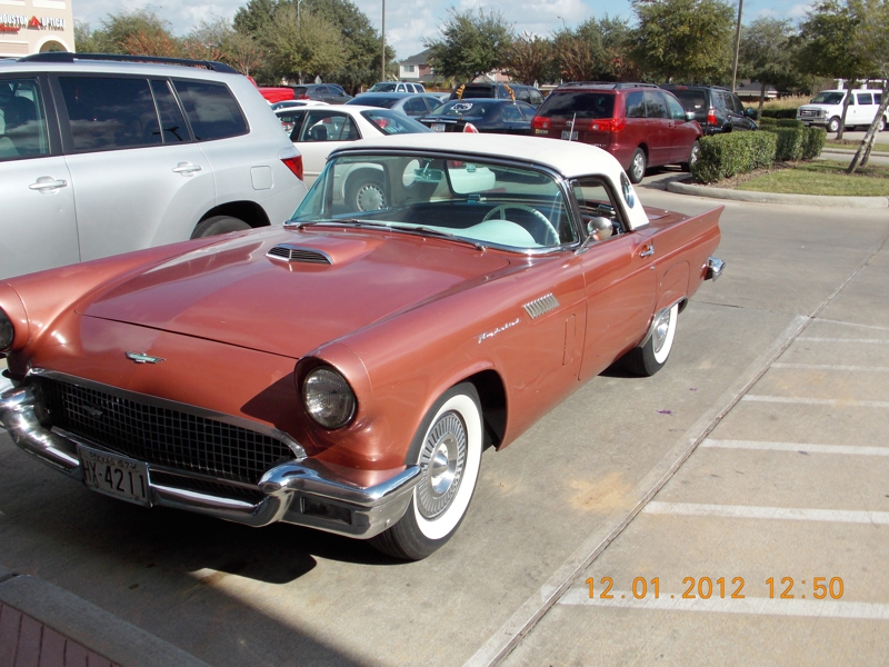 Classic car in parking lot Katy Texas