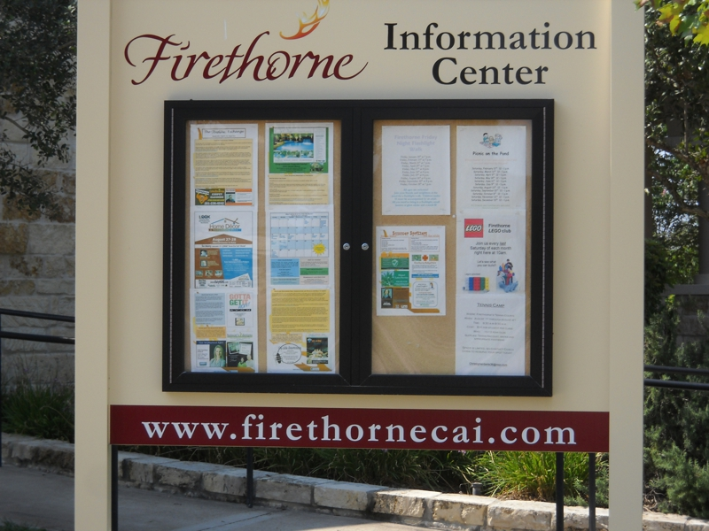 Firethorne sign Katy Texas