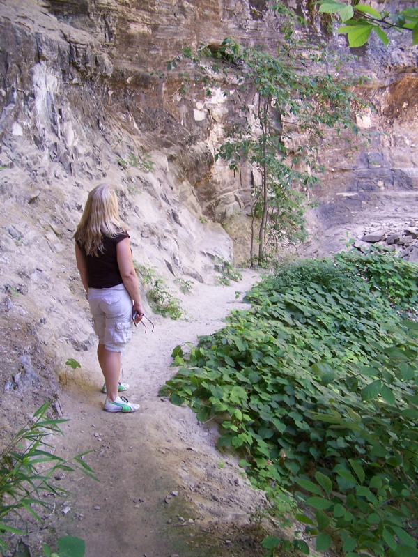 Yvonne Burdette Hiking in Branson, MO