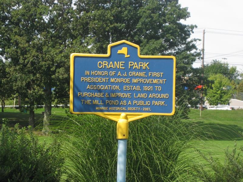 Crane park sign