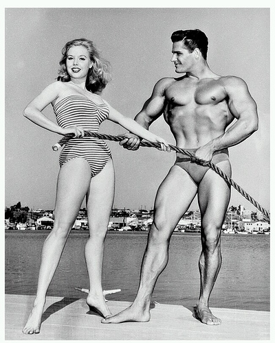 Betty Weider with the Marina Del Rey backdrop