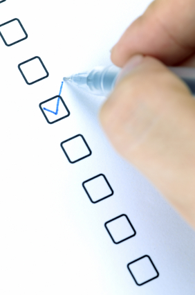 Appraisal checklist of what to do for an appraisal