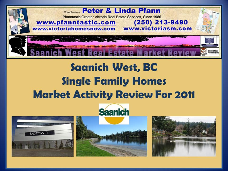 Saanich West, Single Family Homes Real Estate Market 2011 Year in Review.