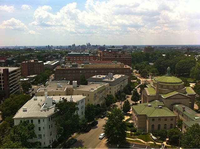 View of downtown Baltimore from University One
