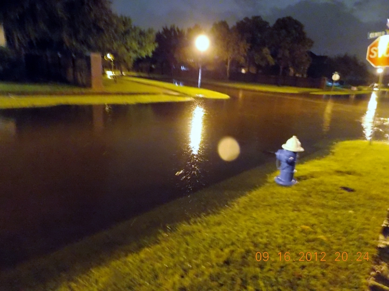 Flooded Street Katy Texas No bueno for mosquitos