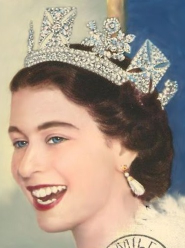 The young Queen Elizabeth - about 26 years old