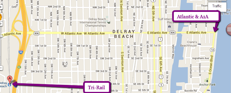 Downtown Delray Beach Access Take the Downtown Roundabout trolley
