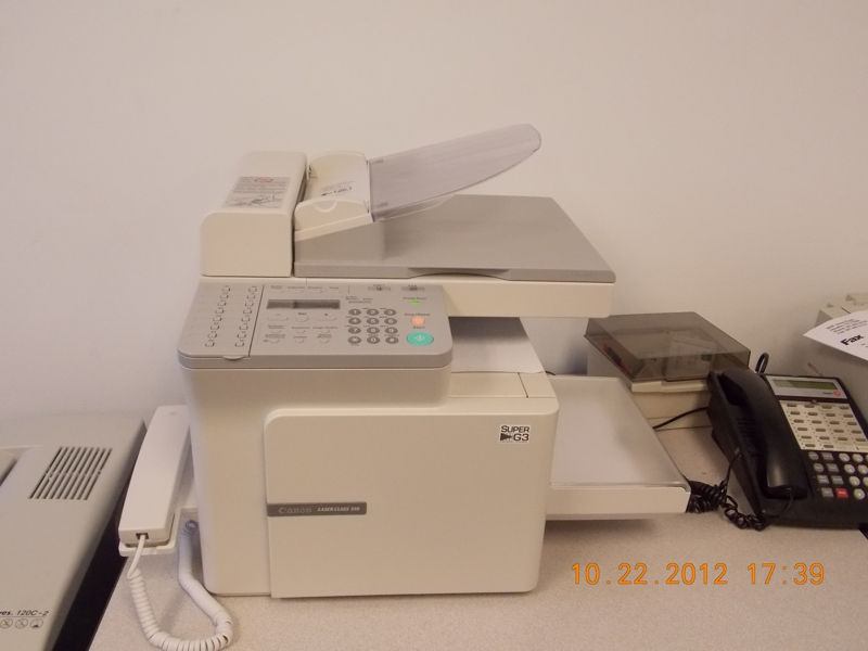 Fax machine but not the one from the story