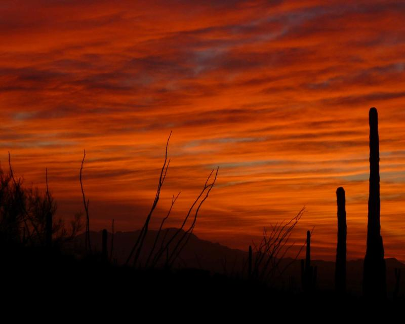 Sunset in the Tucson Mountains near the little community of Tucson Estates II
