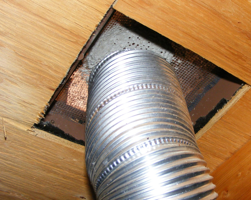 Superior Lint Clogged Roof Vent