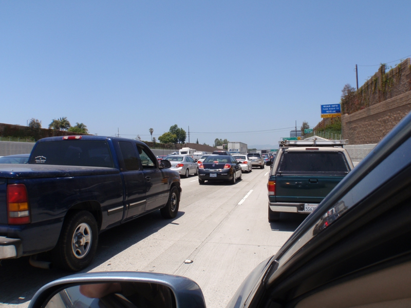 traffic in LA by Endre Barath