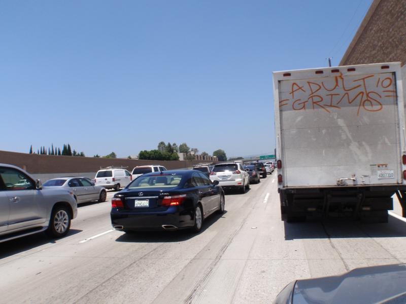 Los Angeles Traffic on I-405 on 06/23/2011