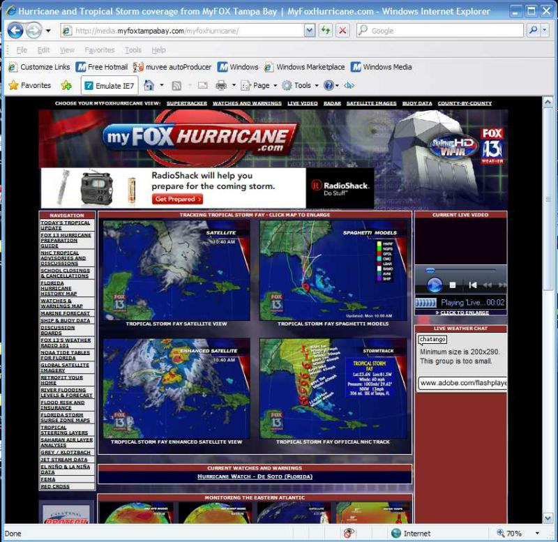 Track Hurricanes, LIVE CHAT! The best weather website I've seen and