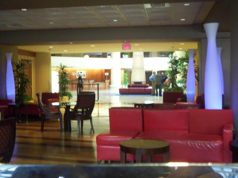 The interior at the Marriott