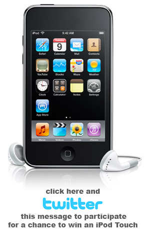 RealBird iPod Touch Sweepstakes on Twitter