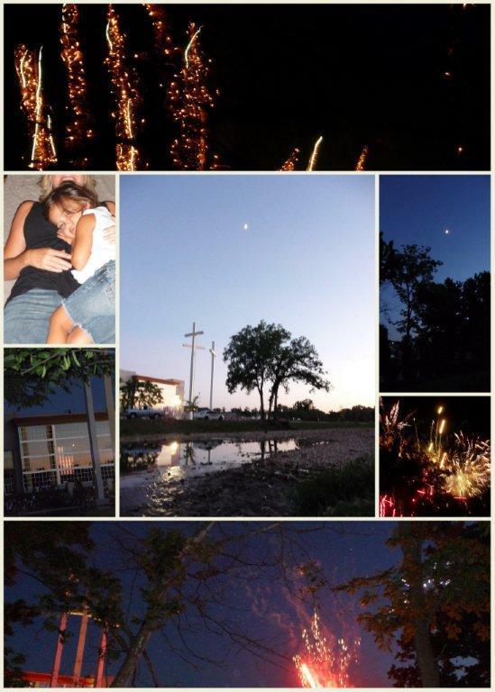Happy Birthday America! Crosses at Pinnacle Fireworks 2009