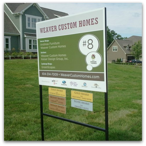 Weaver Custom Homes sign