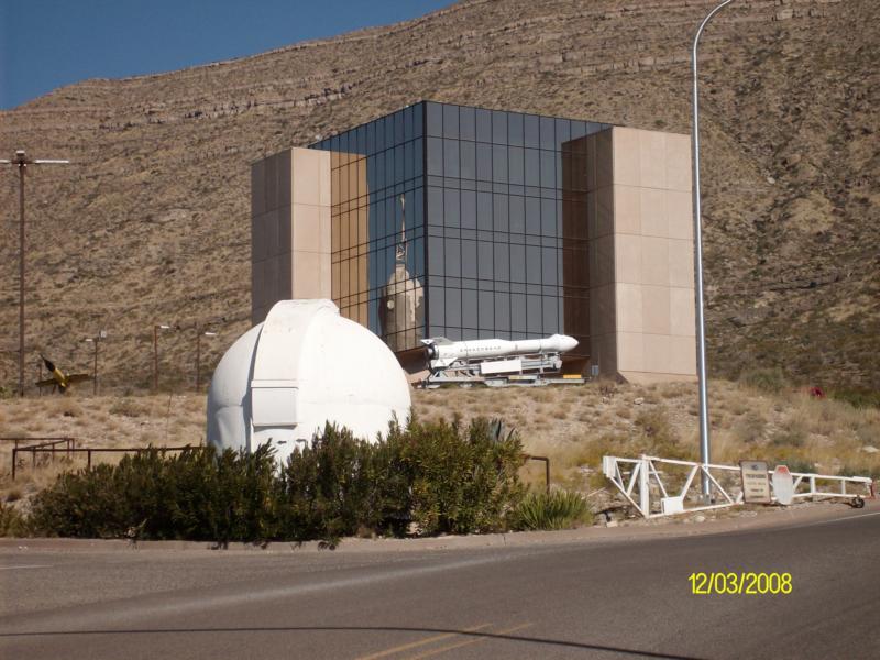 Alamogordo New Mexico. Space Museum in Alamogordo, NM