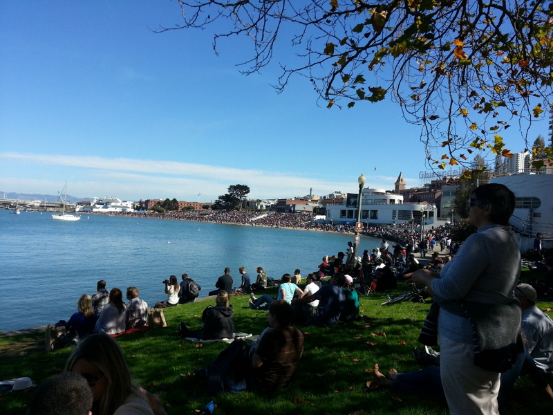 Crowds enjoying Fleet Week 2012 in SF