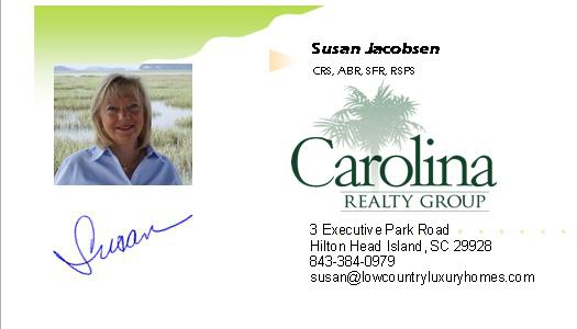 Susan Jacobsen business card