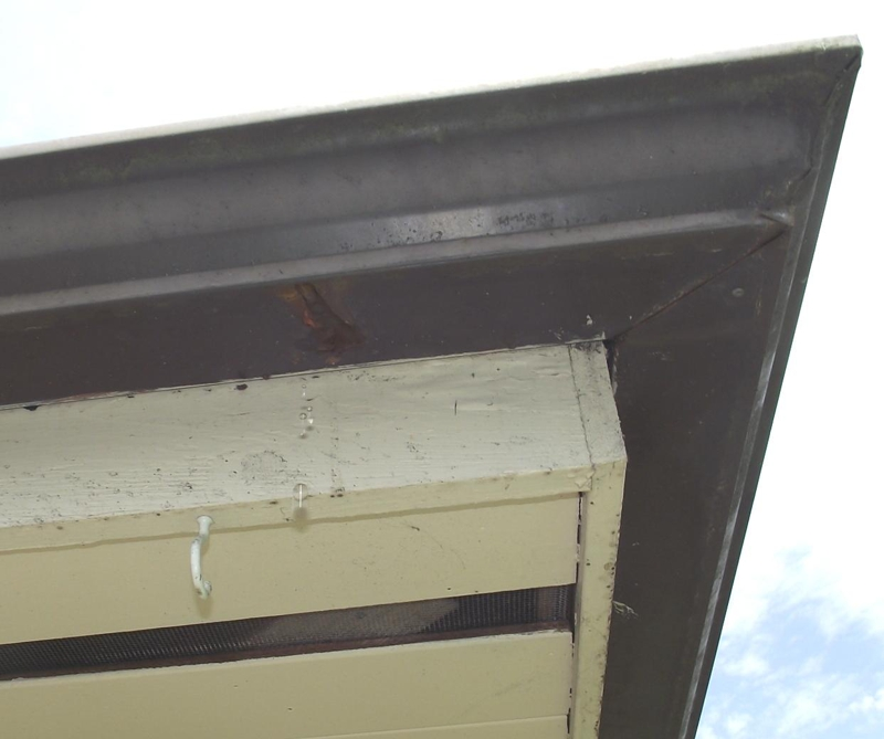 Rusted and leaking gutter