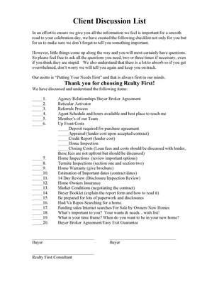 Buyer Broker Agreement 101