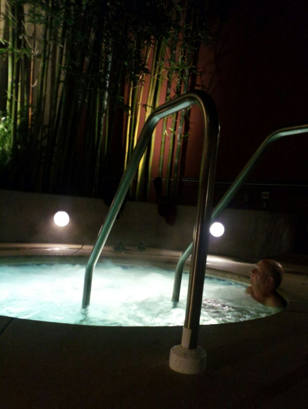 hot tub at Pacific Place condos, SF