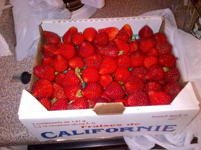 Strawberries from Malibu