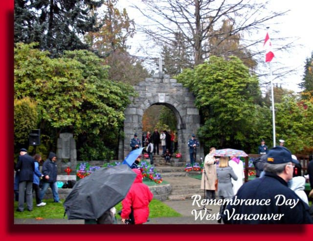 Remembrance Day-West Vancouver, B.C.