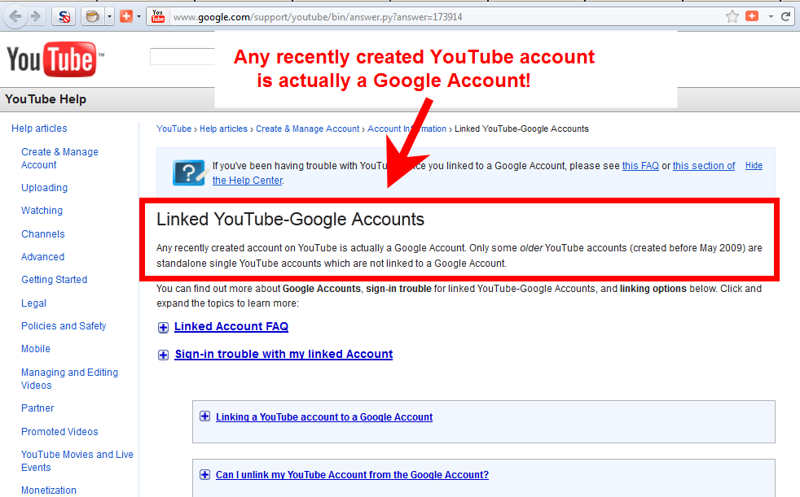A YouTube Channel WILL be Linked to a Google Account