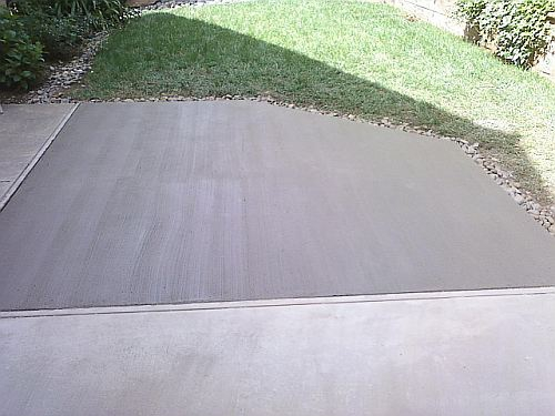 concrete repair completed