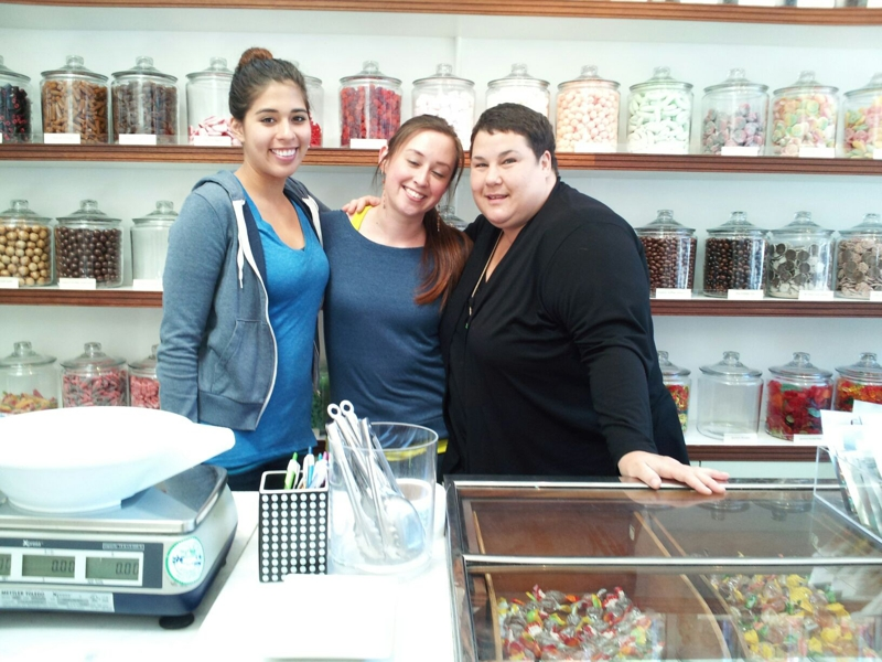 Staff at The Candy Shop, Vallejo St, SF