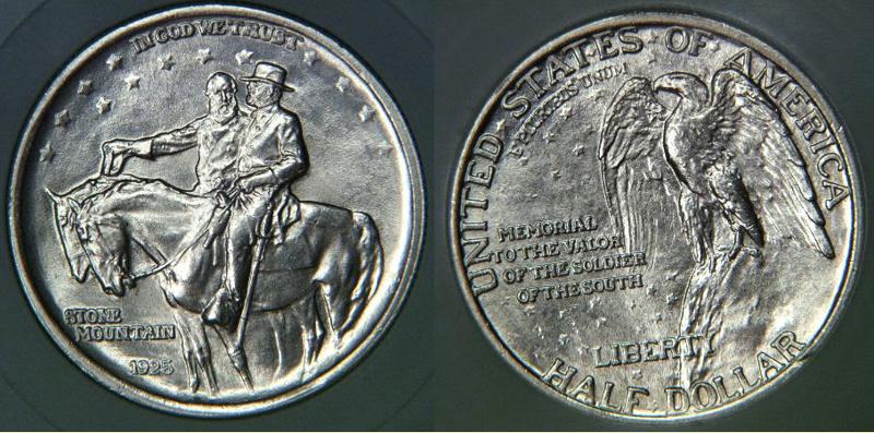 Generals Robert E. Lee and Thomas Stonewall Jackson on Commerorative Half Dollar