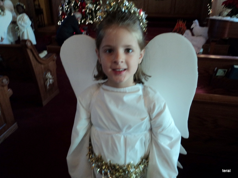 Granddaughter dressed as angel