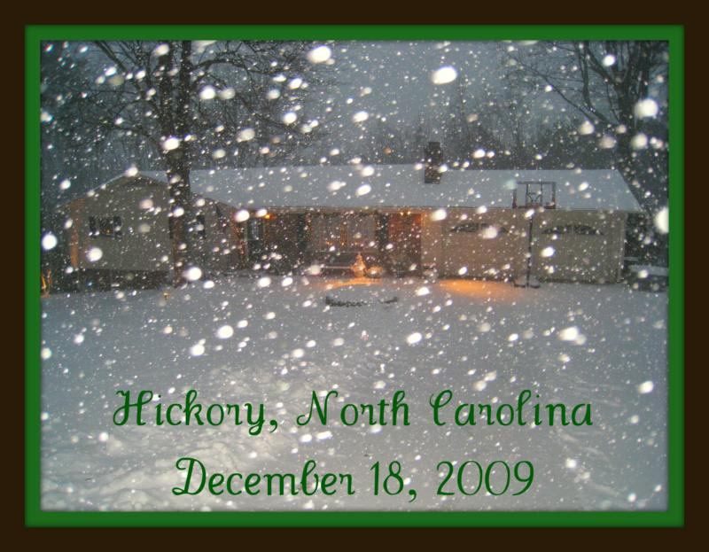 Significant snow fell today in the North Carolina mountains