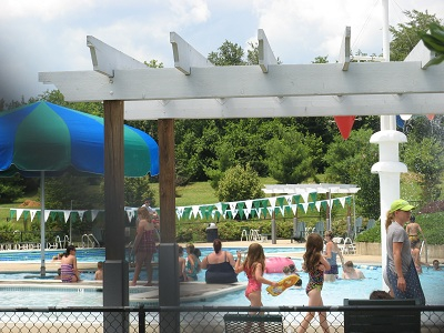 swimming pool is open at franklin park in purcellville virginia