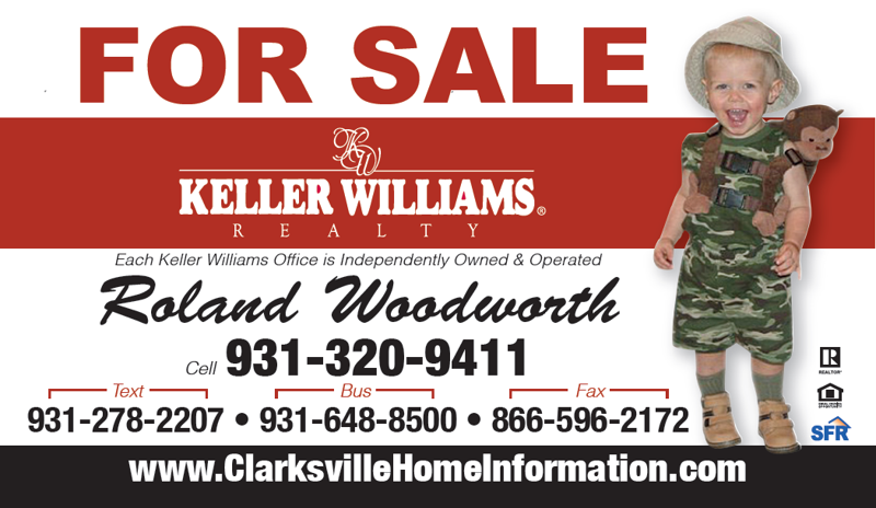 Roland Woodworth ~ Business Card Front ~ Clarksville Home Information