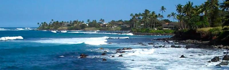the Kuau shoreline - Maui north shore ocean views