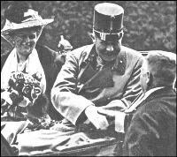 Archduke Franz Ferdinand just before assassination